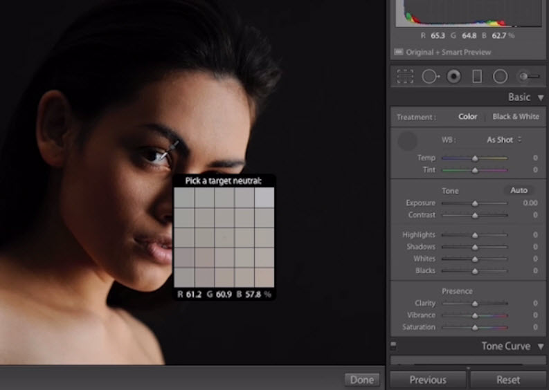 Retouch foto portrait di lightroom 6 - white balance setting